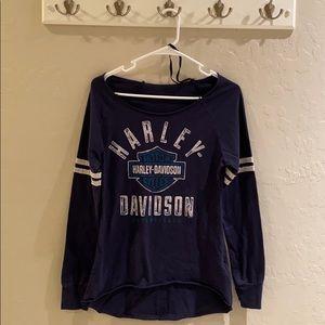 Vintage Harley Davidson Women's Long Sleeve Sz M